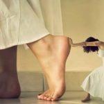 левая нога