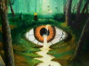 левый глаз9