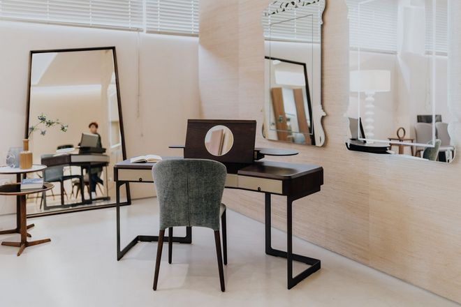 Комната с несколькими зеркалами