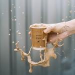 Расплескался кофейный напиток