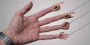 пальцы в пальце