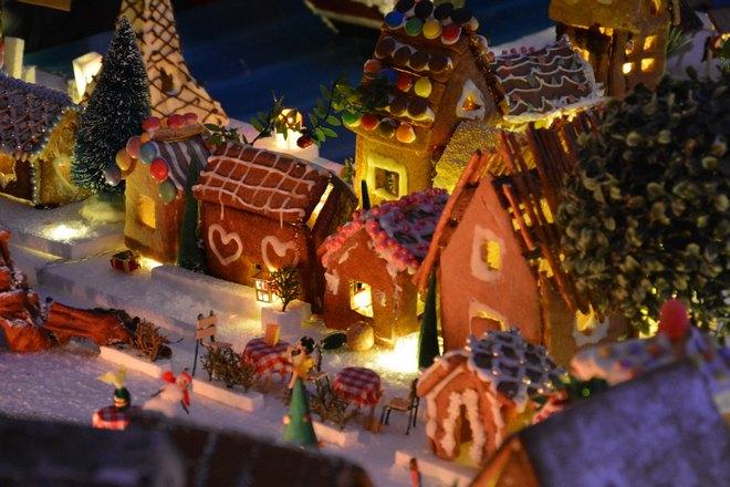 Маленькие рождественские домики