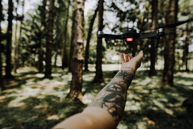 правая рука в лесу