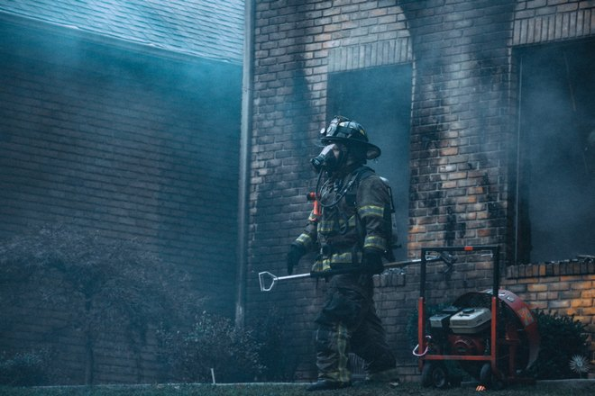 Дом пострадал от пожара
