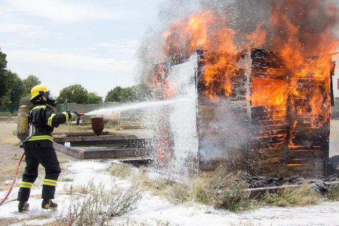 Активное тушение пожара