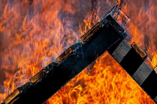 Масштабный пожар