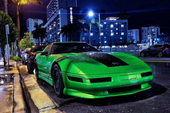 Угон зеленого автомобиля