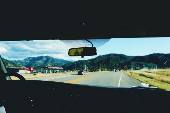Вид из окна угнанной машины
