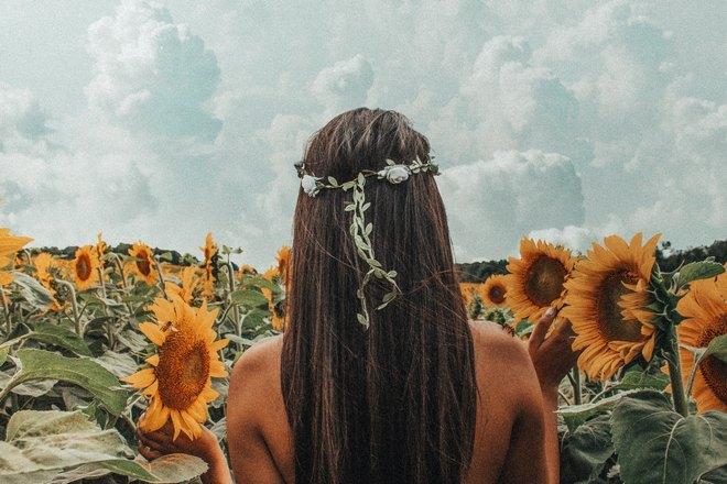 Приснилась девушка с длинными волосами в подсолнухах