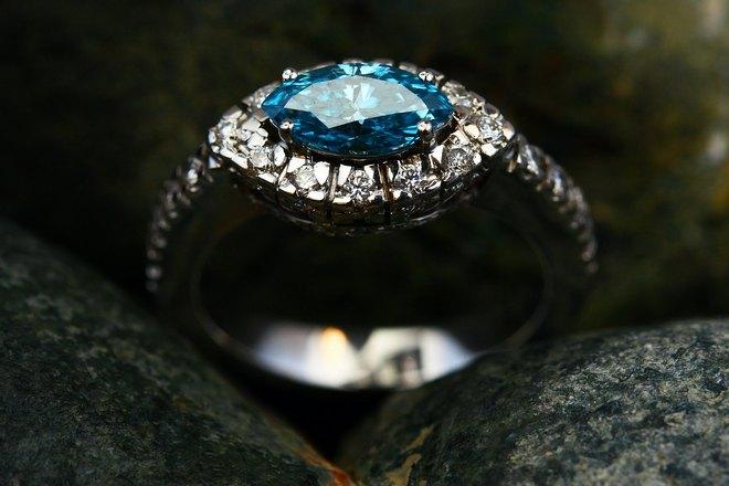 Кольцо с бирюзовым камнем