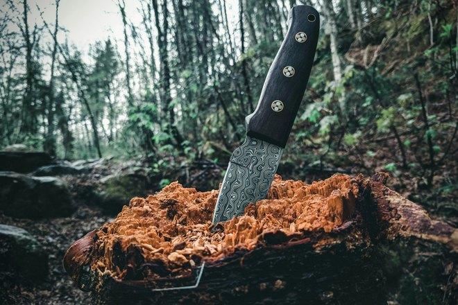 Нож под углом