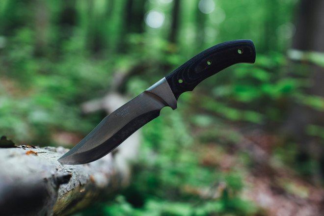 Нож в лесу
