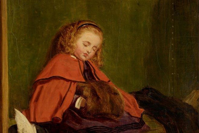 Картина спящей девушки