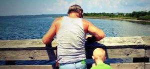 с отцом на природе