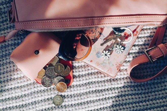 Светло-розовый кошелек