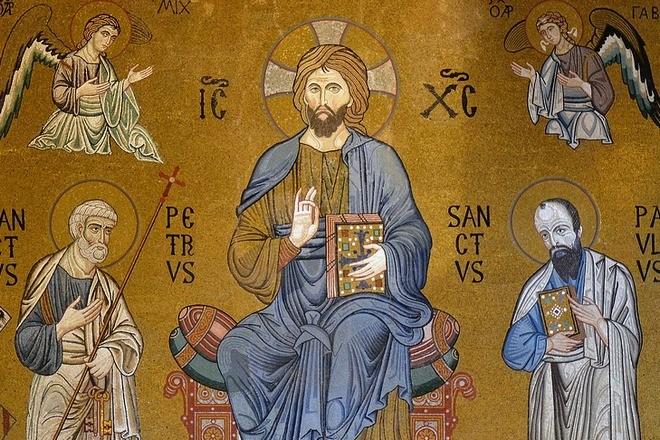 Икона Христа и святых