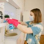 Уборка в розовых перчатках