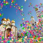 Храм и цветные шарики