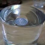Монетка в стакане с водой