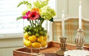 Искусственные растения в интерьере кухни
