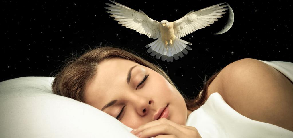 Девушке снится птица