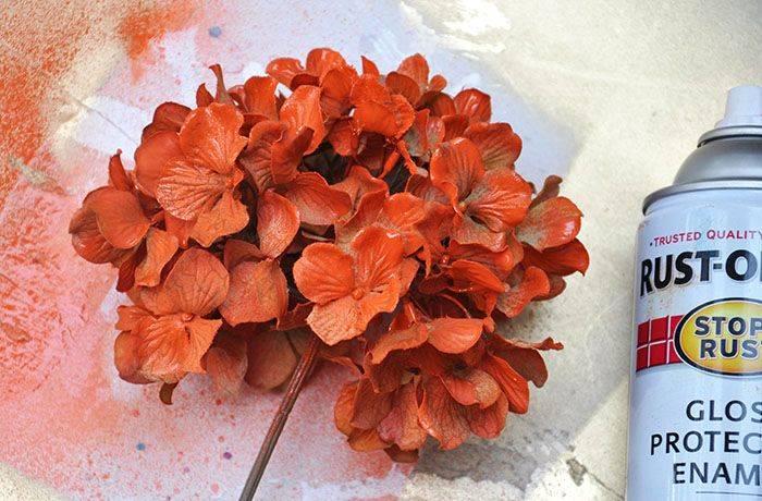 Окраска искусственных цветов
