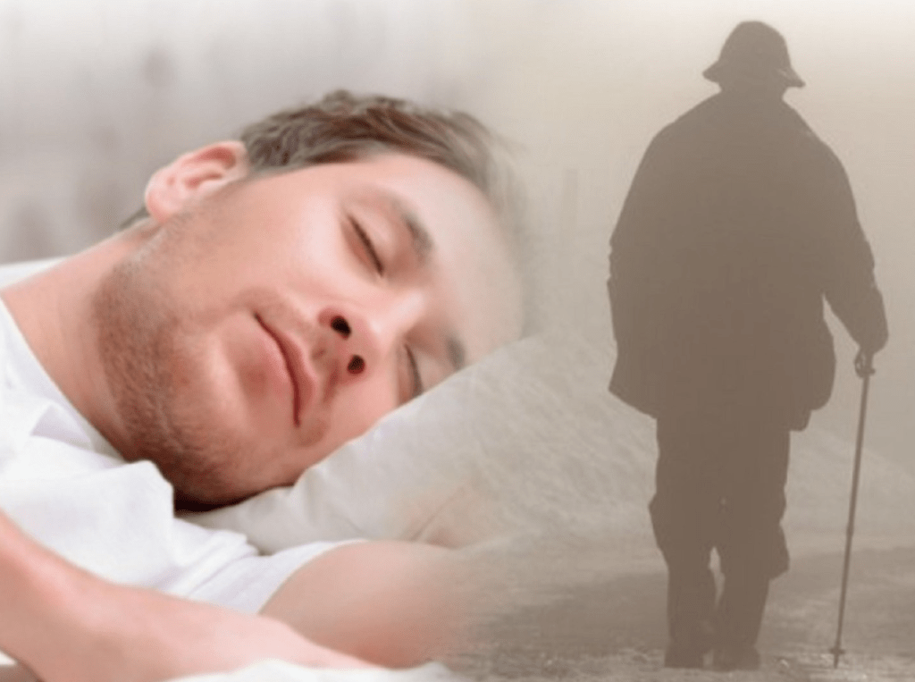 Мужчина видит сон