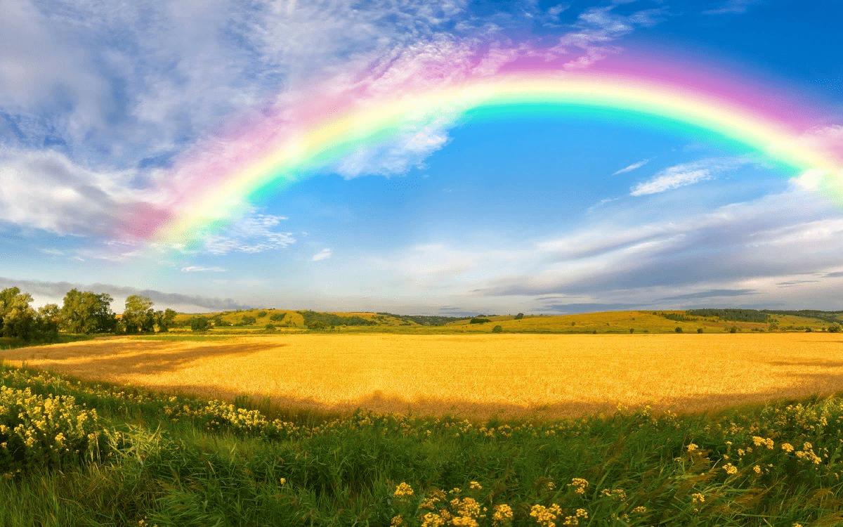 погода во время радуги