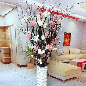 сухие цветы в интерьере комнаты