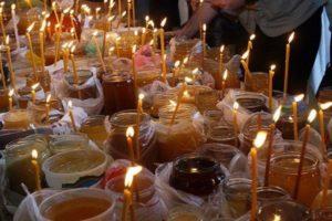 свеча с медом