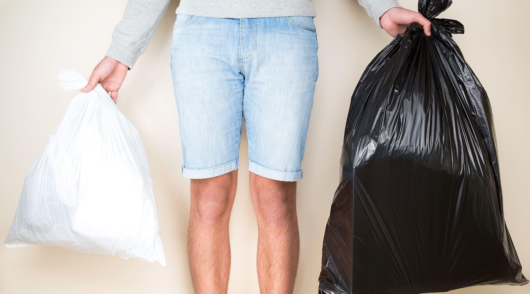 мусор в пакетах