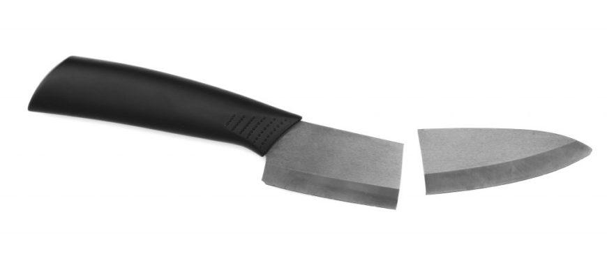 нож поломался на две части