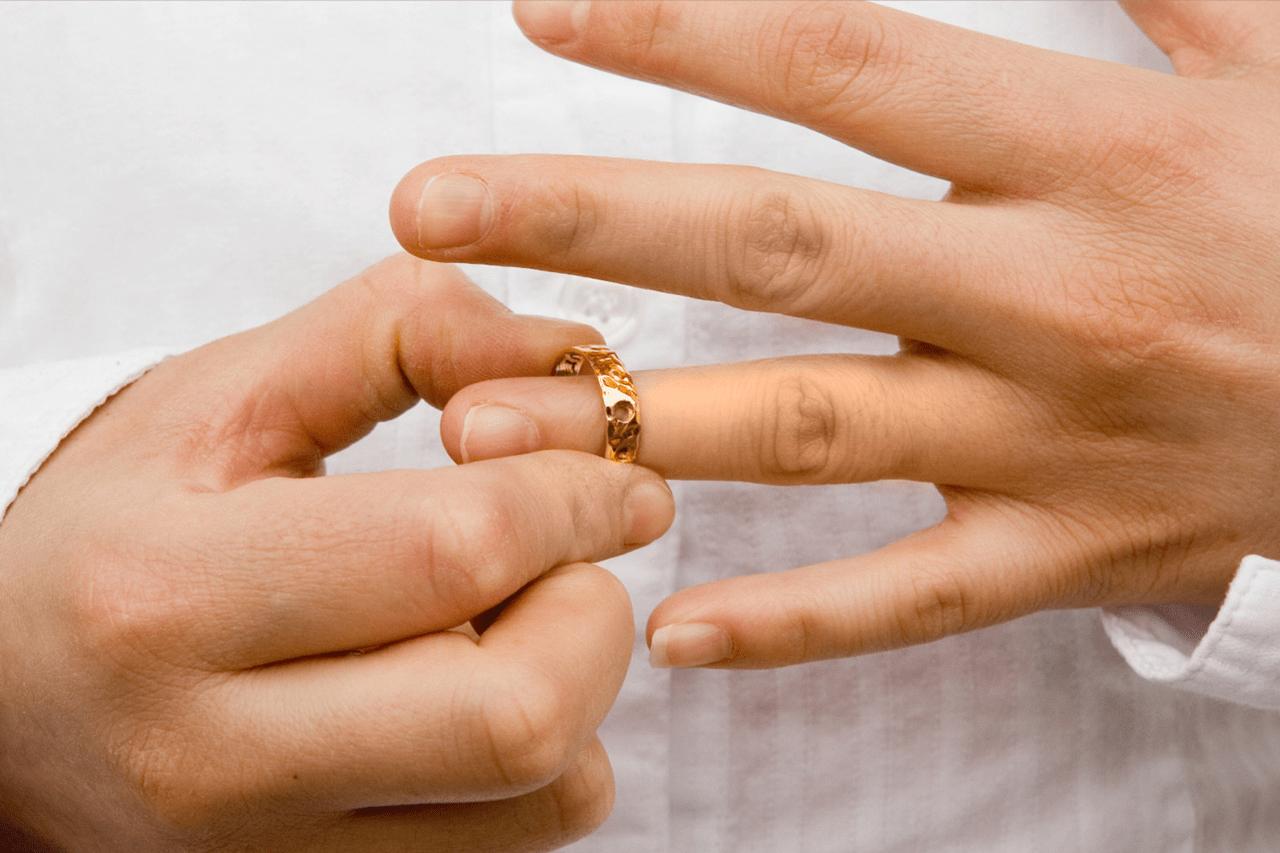 снятие кольца с пальца
