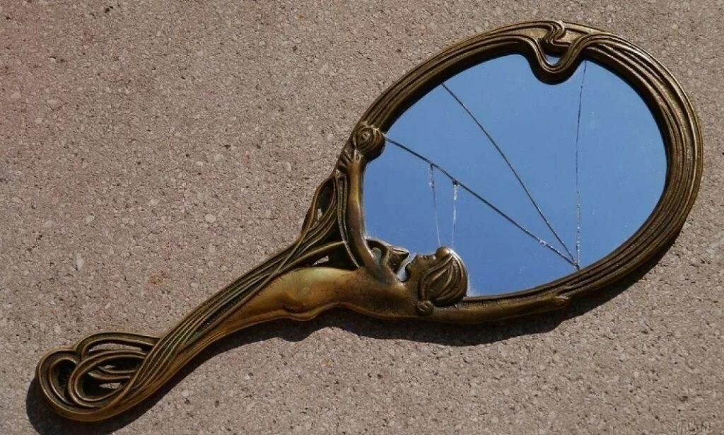 винтажное зеркальце