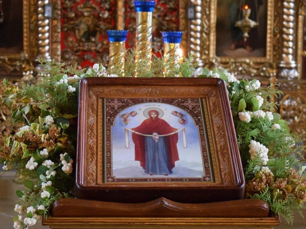 икона покрова Богородицы в храме