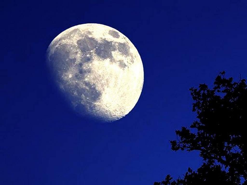 луна на чистом небе