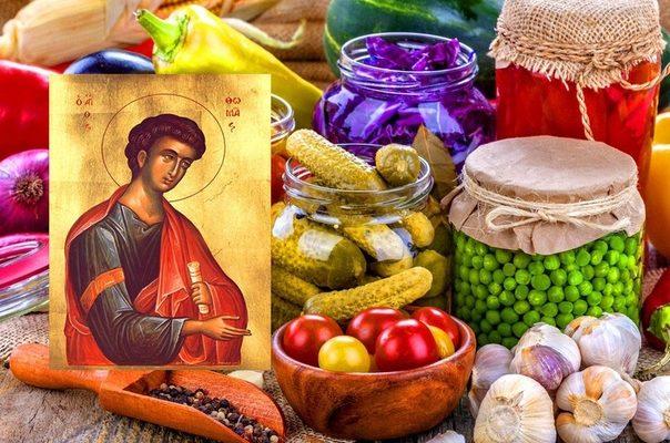продукты рядом с иконой