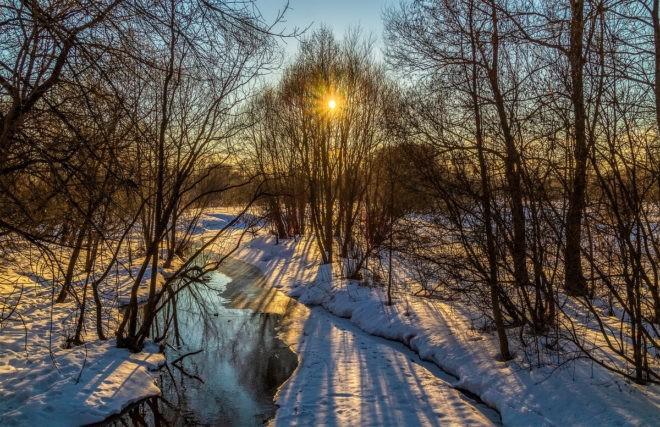утренний восход солнца